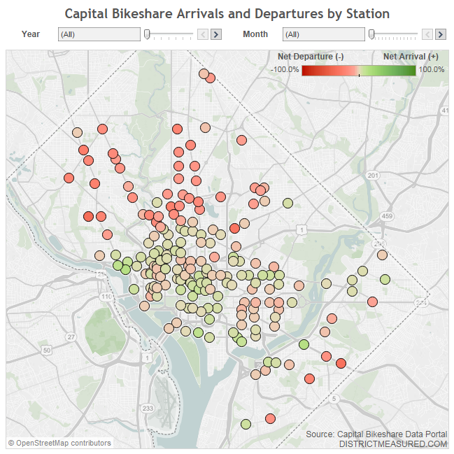 Capital Bikeshare Arrivals and Departures
